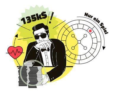 135k$ auf ein Roulette Spiel