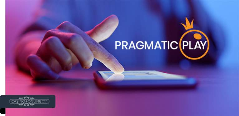 Handy mit Pragmatic Play Logo