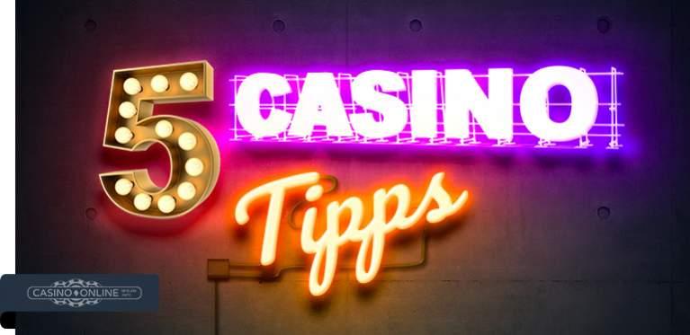 5 Casino Tipps Banner